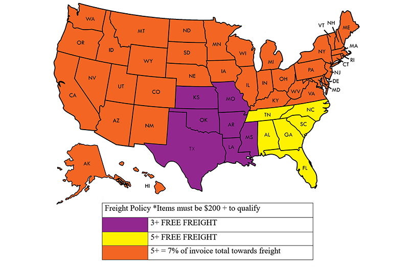 Perry Company | Fortress Pro's Freight Policy